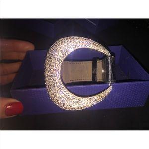Swarovski limited edition crescent cuff bracelet
